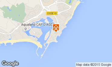 Carte Cap d'Agde Appartement 6176