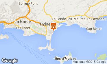 Carte Hyères Mobil-home 77840
