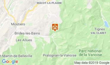 Carte Champagny en Vanoise Chalet 577