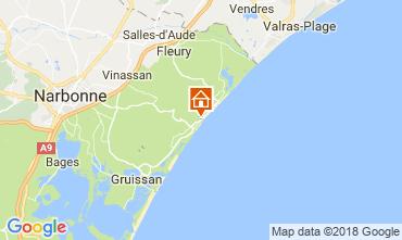Carte Narbonne plage Appartement 114570