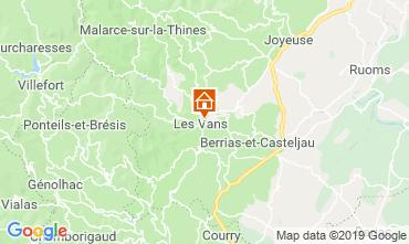 Carte Les Vans Gite 119245