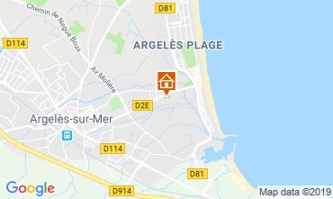 Carte Argeles sur Mer Appartement 108956