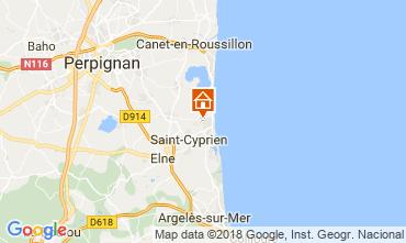 Carte Saint Cyprien Plage Appartement 8713