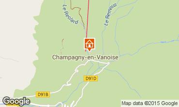 Carte Champagny en Vanoise Chalet 575